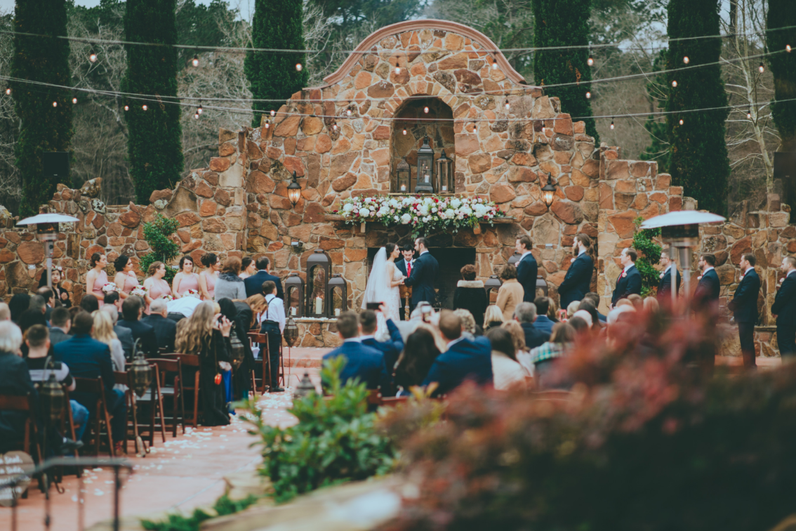 Bride and Groom Getting Married at Madera Estates in Conroe, TX