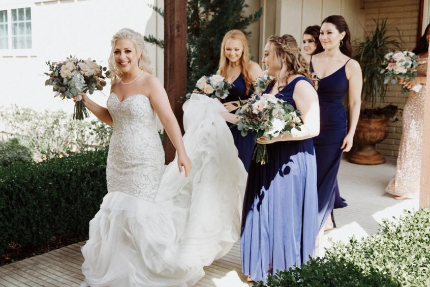 Bride with Bridesmaids at Madera Estates