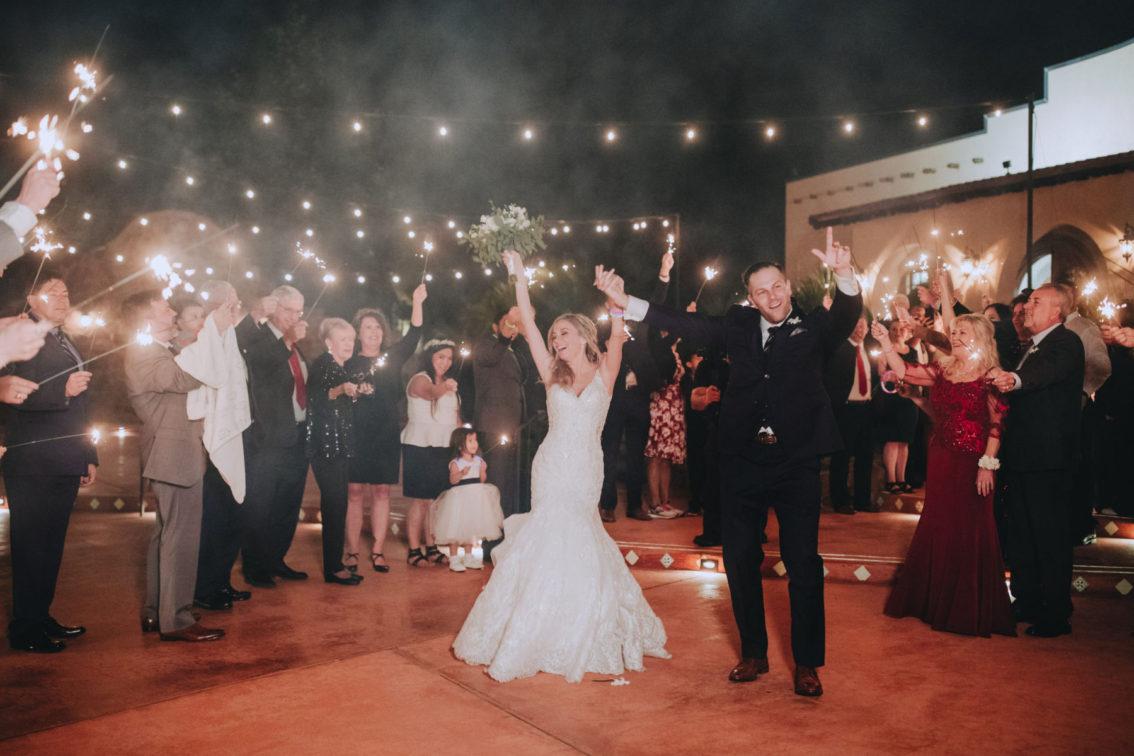 Sparkler Send-Off at Wedding