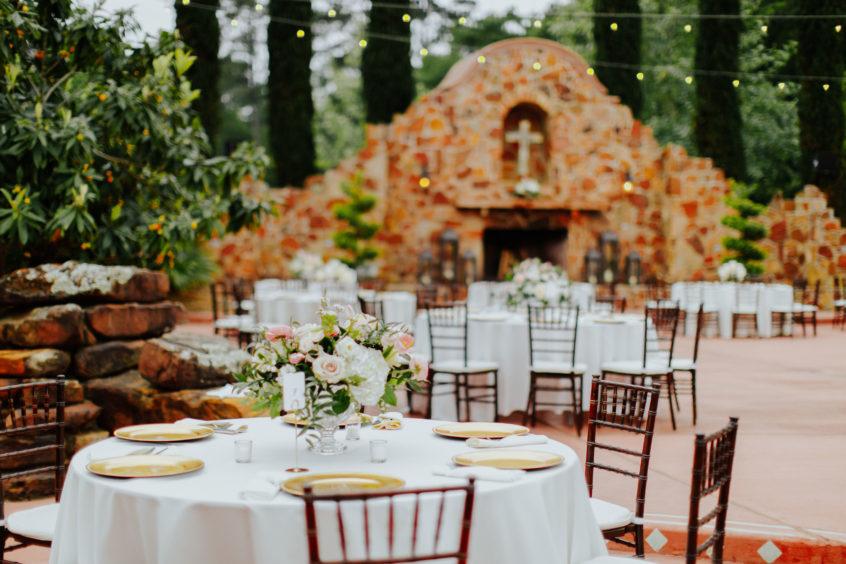 Outdoor Wedding Reception At Madera Estates In Conroe, Texas