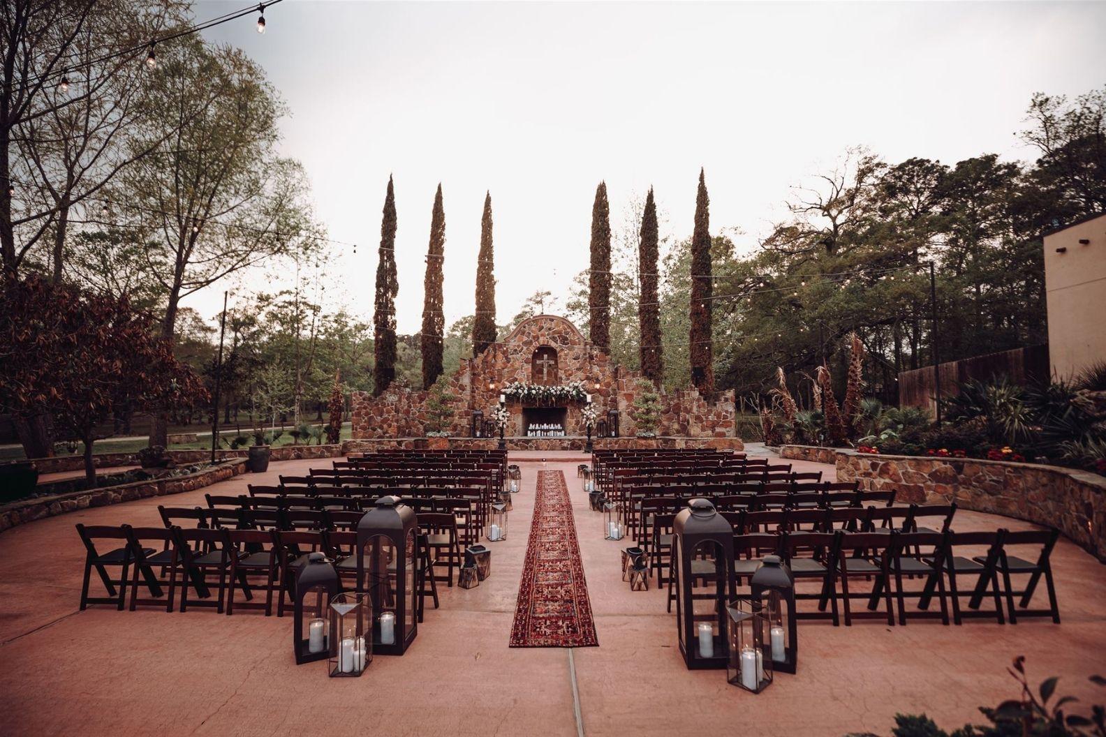 10 Samantha and Mario - Madera Estates Conroe Texas - Twilight Evening Outdoor Ceremony