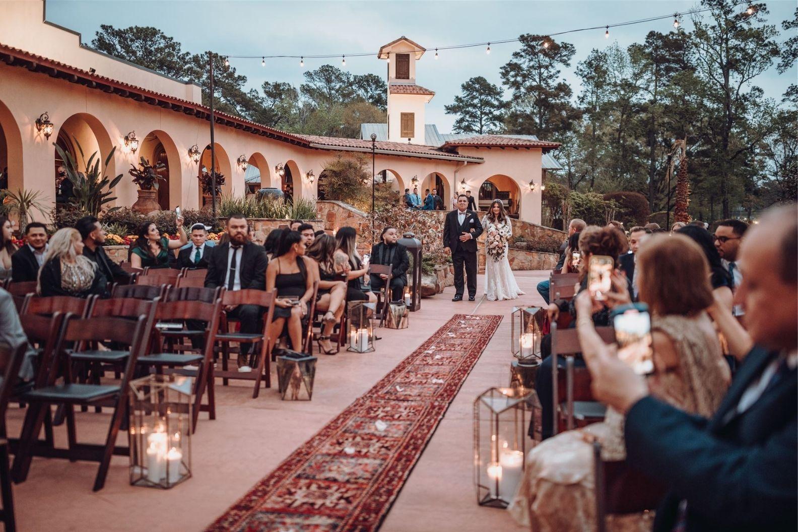 13 Samantha and Mario - Madera Estates Conroe Texas - Twilight Evening Outdoor Ceremony