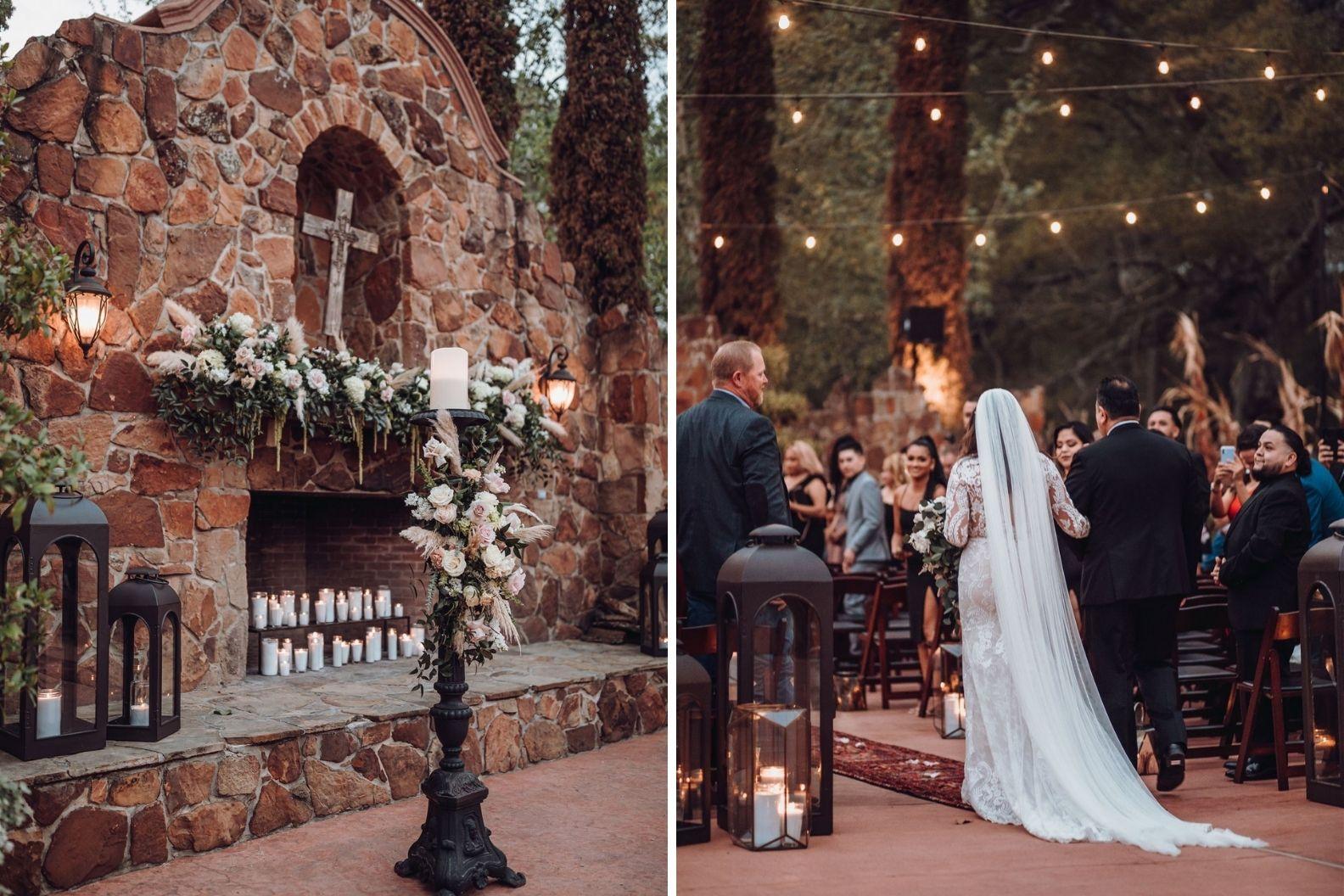 14 Samantha and Mario - Madera Estates Conroe Texas - Twilight Evening Outdoor Ceremony