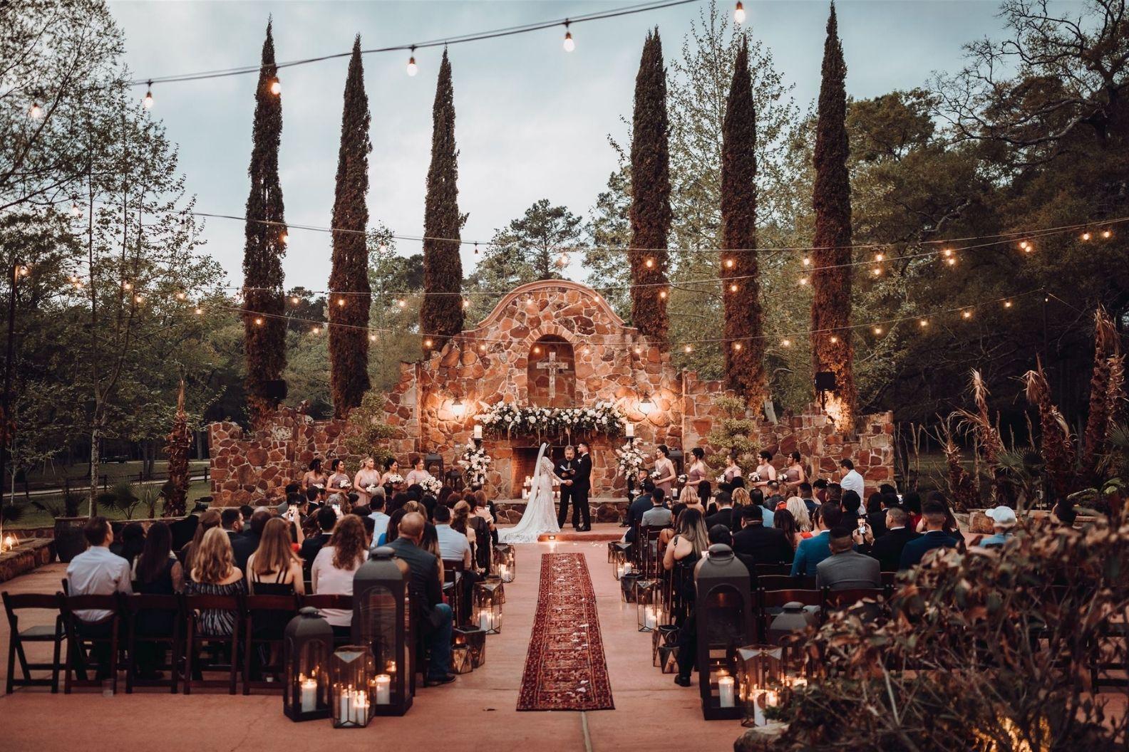 16 Samantha and Mario - Madera Estates Conroe Texas - Twilight Evening Outdoor Ceremony
