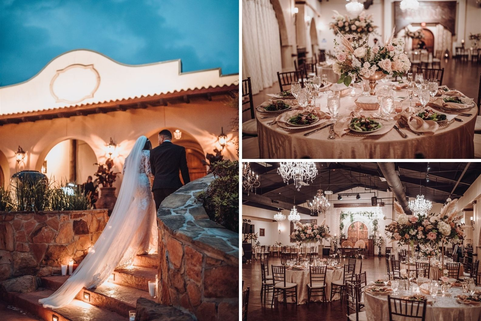 18 Samantha and Mario - Madera Estates Conroe Texas - Twilight Evening Outdoor Ceremony