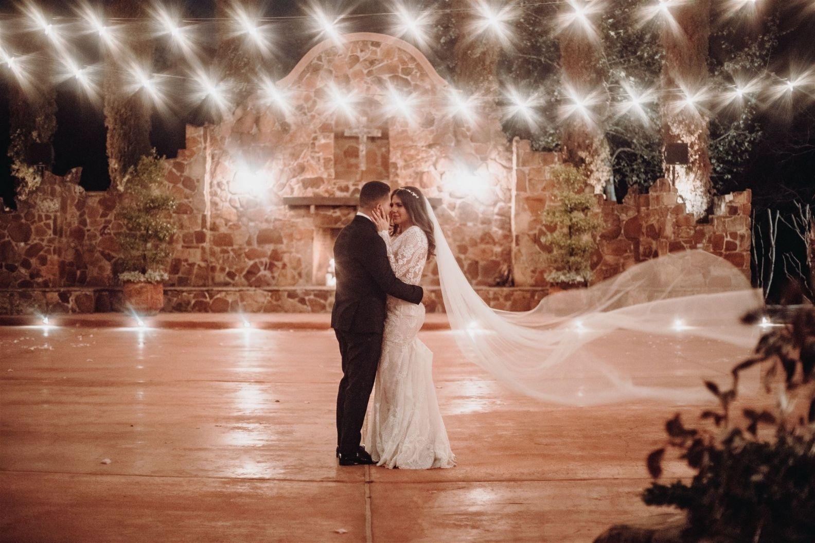 24 Samantha and Mario - Madera Estates Conroe Texas - Twilight Evening Outdoor Ceremony