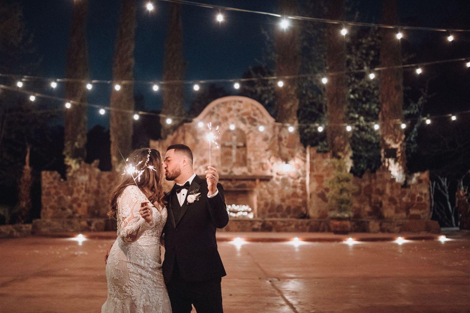 26 Samantha and Mario - Madera Estates Conroe Texas - Twilight Evening Outdoor Ceremony