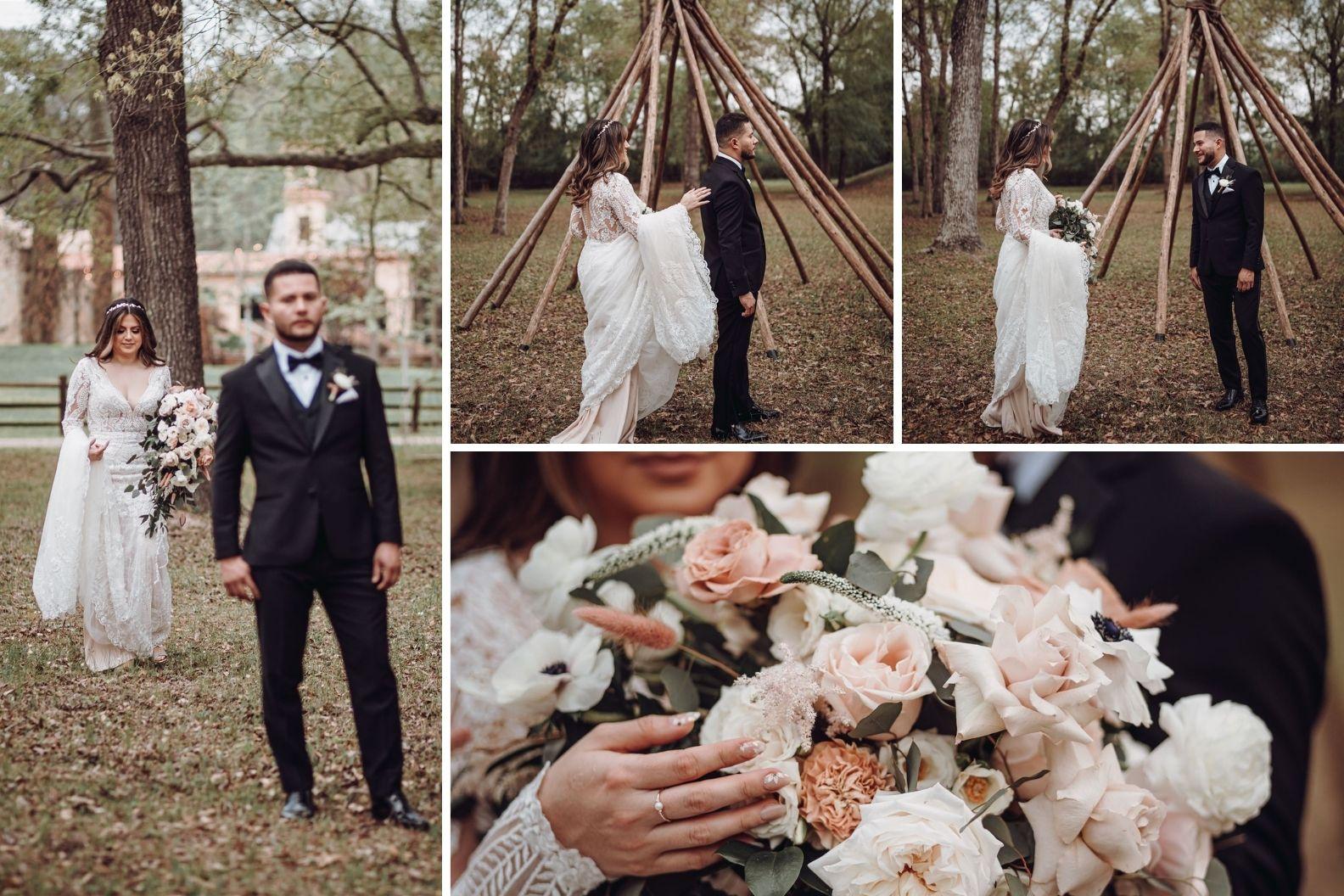 7 Samantha and Mario - Madera Estates Conroe Texas - Twilight Evening Outdoor Ceremony