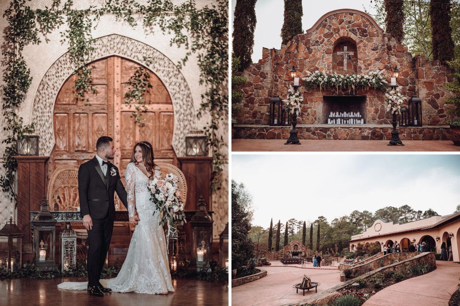 9 Samantha and Mario - Madera Estates Conroe Texas - Twilight Evening Outdoor Ceremony