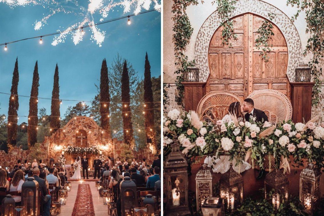 Samantha & Mario - Cover Photo Blog - Samantha and Mario - Madera Estates Conroe Texas - Twilight Evening Outdoor Ceremony